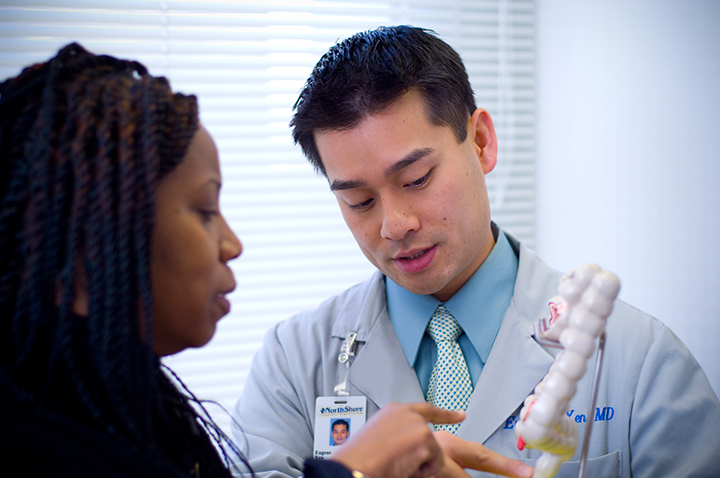 Dr. Eugene Yen with patient