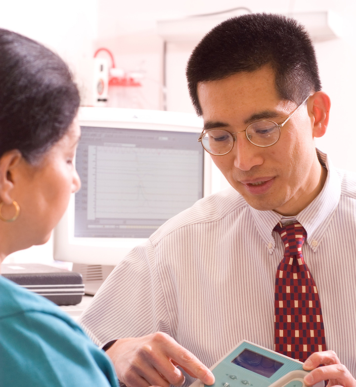 Dr. Chiao and his patient