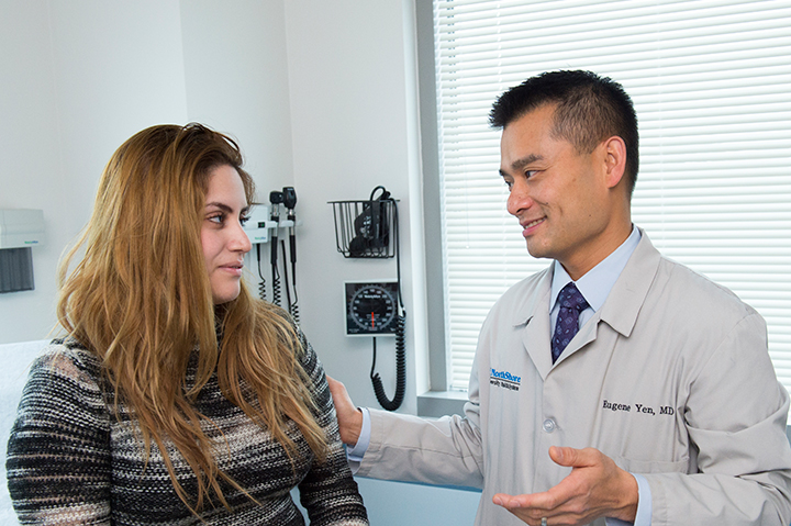 Dr. Eugene Yen and his patient
