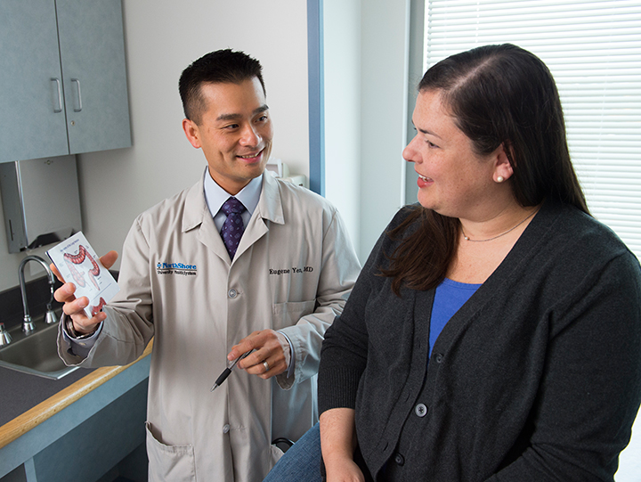 Dr. Yen discusses IBD with his patient