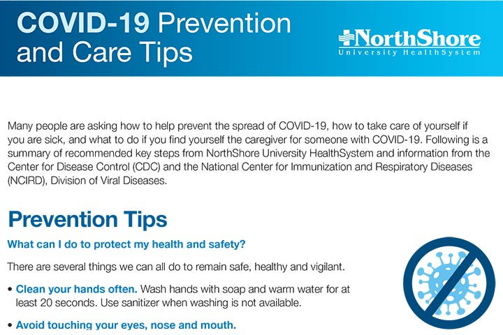 COVID-19 Prevention and Care Tips