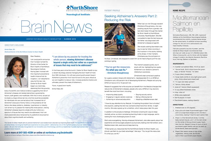 Center for Brain Health Newsletter