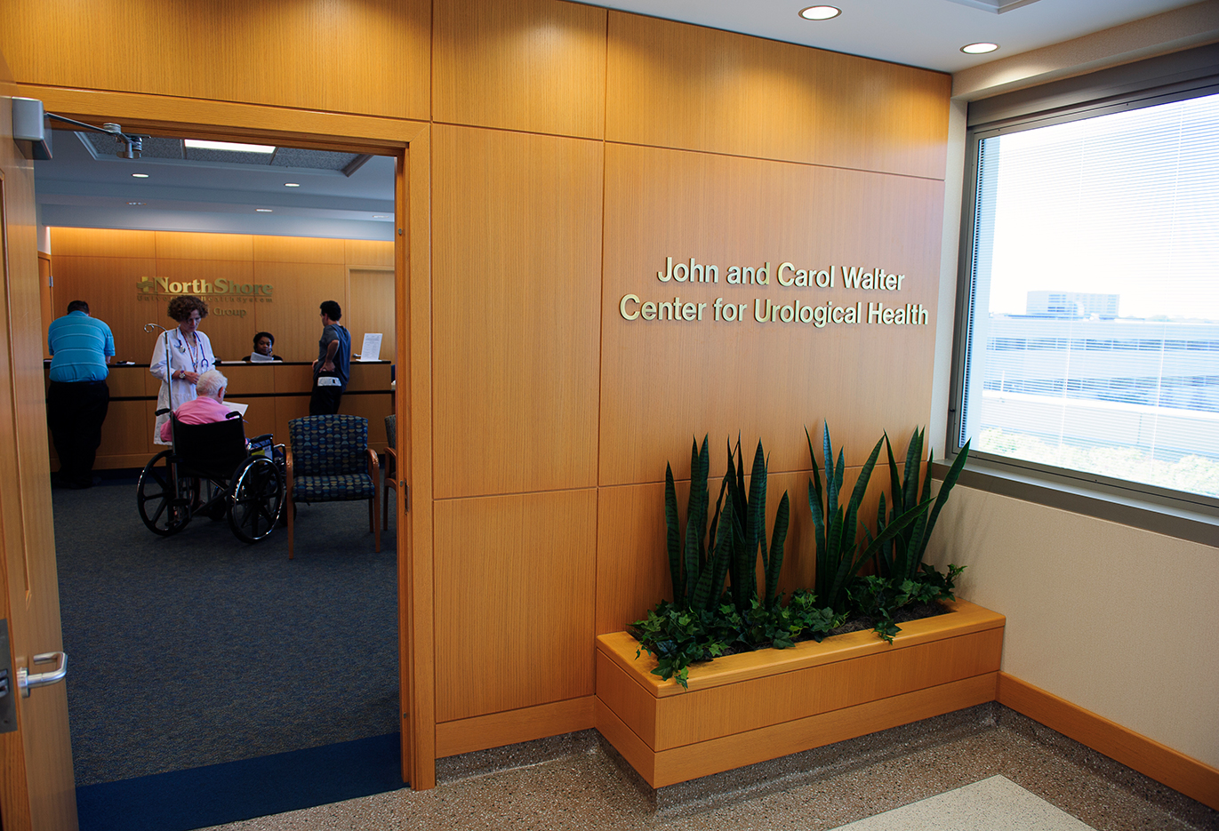John and Carol Walter Center for Urological Health front entrance